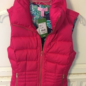 TAGS ON Pink Lily Pulitzer DOWN VEST